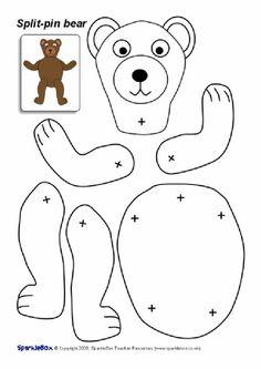 Split-Pin Bear Character (SB2043) - SparkleBox