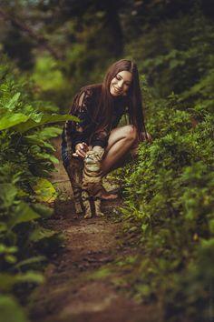 kitten / garden / smile / love