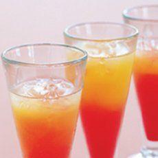 Low calorie Tequila Sunrise cocktail