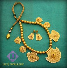 Wear this gold set with just anything simple to give it a royal touch..   Place your order by sending us an email to justjewellery08@gmail.com
