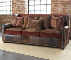 Claybourne Sofa By Paul Robert Leopard Prints Leather Fabric Diy