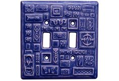 Ceramic Light Switch Cover Symbols Design by HoneybeeCeramics, $25.00