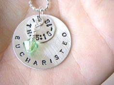 I want this soooooo badly!!! to have it around my neck in those moments when I need to remember Eucharisteo always proceeds the miracle.