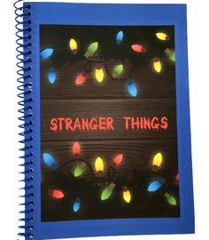 Stranger Things Christmas LIghts notebook