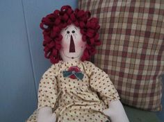 Raggedy Ann by granniesraggedybags on Etsy, $18.00
