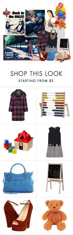 """""""A family portrait"""" by coccinellanna ❤ liked on Polyvore featuring Bois, Burberry, Yves Saint Laurent, Balenciaga, Giuseppe Zanotti, 7 For All Mankind, Anton Heunis, bianca balti, yves saint laurent and burberry"""
