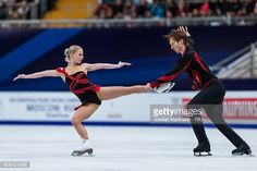 Evgenia Tarasova and Vladimir Morozov of Russia compete in the Pairs Short Program during day one of the European Figure Skating Championships at Megasport Arena on January 17, 2018 in Moscow, Russia.