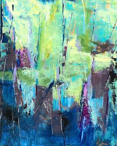 "Daily Painters Abstract Gallery: Contemporary Abstract Expressionist Fine Art Painting, ""SEE THE FOREST FOR THE TREES"" by Contemporary Expressionist Pamela Fowler Lordi"