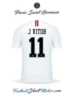 Crear Camiseta de Paris Saint Germain 2018 19 Jordan con tu Nombre 201c46542cccb
