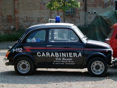 Fiat 500 for the Carabinieri (police) high speed chases.