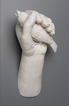 Kate MacDowell is a conceptual porcelain sculptor from Portland, Oregon, USA. Her work create a stunning contrast, combining beautiful craft with an exploration of human nature and science