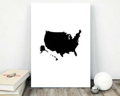 United States Map Travel Printable America by AlbatrossCreation United States Map, Pretty Images, Shadow Box Frames, Office Wall Art, Us Map, State Map, Travel Aesthetic, Travel Gifts, Collage Sheet