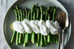 Alice B. Toklas' Asparagus in Salt & Pepper Whipped Cream, a recipe on Food52