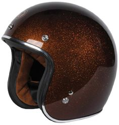 TORC (T50 Route 66) 3/4 Helmet with Super Flake Speciality Paint (Root Beer Brown, Large). Lightweight advanced ABS shell. Retro paint and graphics. Ultra suede inner comfort padding with removable, washable cheek pads. Removable sun visor. DOT approved.