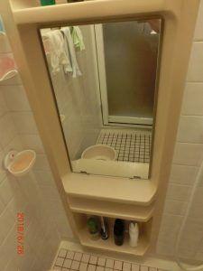 浴室用のミラーを入れ替えたタイプの写真です 浴室 ミラー 浴室