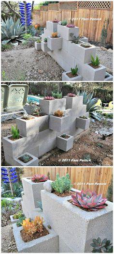 Make A Cinder Block Wall Planter – Free Tutorial - 22 DIY Cinder Block Planter Ideas to Update Your Garden - DIY & Crafts