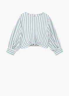 Stripe crop blouse