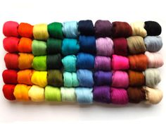 50 colours Needle Felting Merino wool tops  21 micron  50 colors  500g