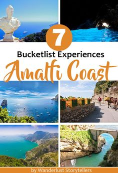 Don't miss these 7 unique bucketlist experiences of the Amalfi Coast in Italy. Click to see the list. >>>>>>>>>>>>>>>>>>>>>>>>> Travel Amalfi Coast | Amalfi Coast Bucketlist | Amalfi Coast Path of Gods | Amalfi Coast Food Tour | Amalfi Coast Ravello | Isle of Capri Italy | Blue Grotto Capri Italy | Best Beaches Amalfi Coast