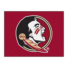 Fanmats Florida State University Seminoles Nylon Rug  https://allstarsportsfan.com/product/fanmats-florida-state-university-seminoles-nylon-rug/  9 ounce, 100 % nylon face Recycled vinyl backing for a durable and longer-lasting product Machine made and tufted in the USA