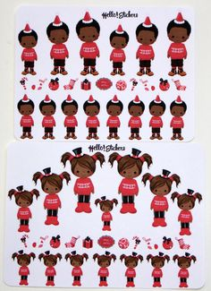 African American Christmas Girl or Boy! by hellostickers on Etsy