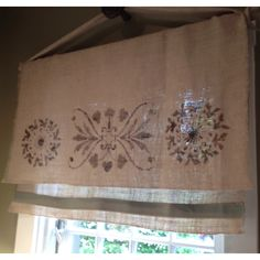 Burlap curtains I loved at the designer showcase house.