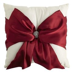 pillow with bow