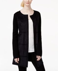 INC International Concepts Moleskin Duster Cardigan, Only at Macy's