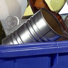 Use empty coffee cans to hold everything from markers to macaroni! It's a fuss-free way to de-clutter any area of your home.