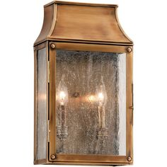 """Glassware: Clear Seeded  Metalwork: Solid Brass  Finishes: Heirloom Brass  19.75"""" high"""