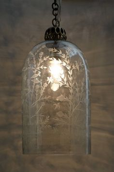 WoW!! Etched Cloche Pendant Lamp - anthropologie.com