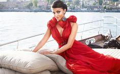 Aishwarya Rai, beautiful woman, Indian fashion model, Indian actress, brunette, red dress
