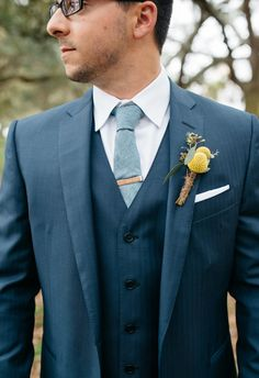 Debonair groom, billy ball bout, wool tie // Whimsey Photography by Cana
