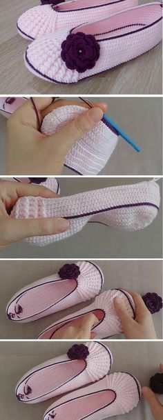 How to Crochet These Beautiful Slippers - Design Peak,We are all about the slippers today. Aren't these slippers lovely? Yes they are, at least we do believe so and for this matter we share with you a gre. Crochet Boots, Crochet Clothes, Crochet Baby, Knit Crochet, Crochet Crafts, Crochet Projects, Sewing Crafts, Craft Projects, Diy Crafts