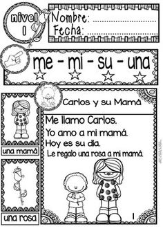 SPANISH READING - MOM'S DAY PASSAGES - TRANSLATION SHEET ADDED -LEVEL 1 - TeachersPayTeachers.com