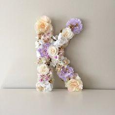 Floral Letter Flower Letter Floral Monogram by BegoniaRoseCo