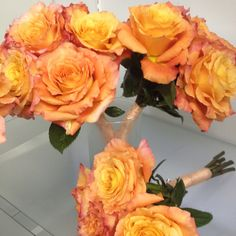 Simple open rose bouquets