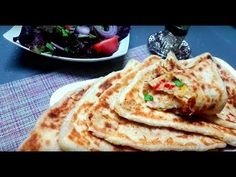 Mhajeb Nouveau Pliage Avec Une Superbe Farce En Collaboration Avec Djouza - YouTube Pizza, Pains, Ramadan, Voici, Breakfast, Ethnic Recipes, Videos, Cooking Recipes, Moroccan Cuisine