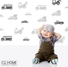 wall decal CARS living street CUSTOM car sticker vinyl by CGhome
