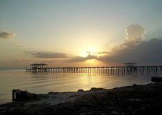 Sunset on Santa Rosa Sound, near Gulf Breeze, Florida.