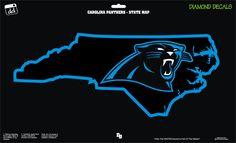 Carolina Panthers NC Map NFL Football Team Decal Sticker Car Truck Laptop SUV Window by DiamondDecalz