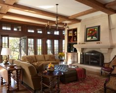 Living Room in a tudor home