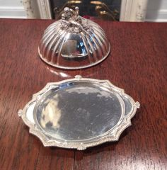 Pete Acquisto, IGMA fellow - limited edition sterling silver covered tray, Look at the handle - it's a reclining man - exquisite work! sold on ebay for $633
