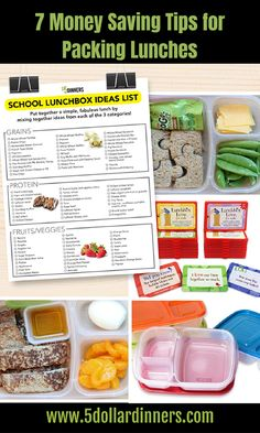 7 Money Saving Tips for Packing Lunches Packing School Lunches, School Lunch Box, Box Lunches, Lunch Boxes, Hiking Food, Backpacking Food, Planning Budget, Menu Planning, Money Saving Tips