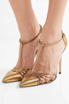 5 Fail-Proof Party Looks   SJP By Sarah Jessica Parker Carrie Metallic Leather Pump