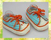 Handmade Crochet Baby Shoes Crocheting Baby Crib Shoes Knitting Sport Shoes for 5-8 month baby(LS52)