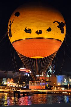 hot air balloon  - Downtown Disney