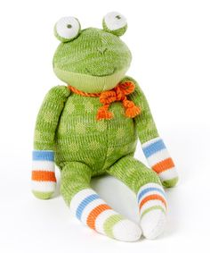 Another great find on #zulily! Fritz the Frog Plush Toy by Monkeez and Friends, $14 !! #zulilyfinds