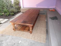 Reclaimed wood coffee table custom made in the USA made by Oldpine