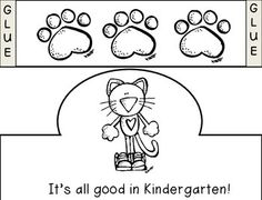 Pete the Cat K Scavenger Hunt- First day of school